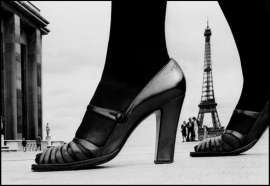 Frank Horvat - Shoe and Eiffel Tower B